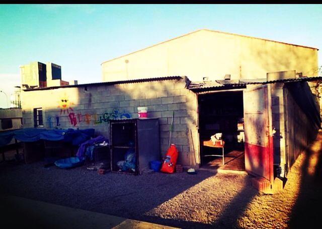 Ehemaliges Gebäude vom Refugio, bis der Umzug ins neue Refugio stattfand Foto: Diana Gloe